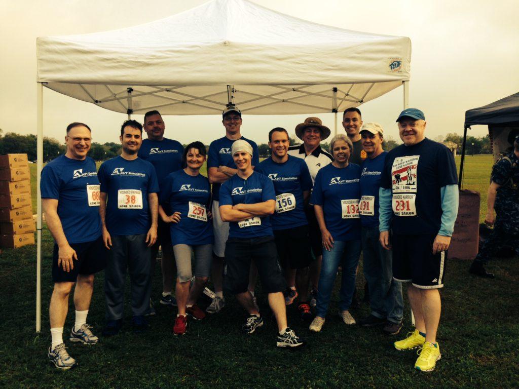 AVT Lone Sailor Run 2014 team