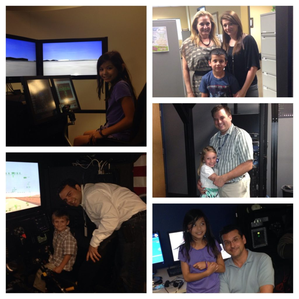 Five pictures from Take Your Child to Work day AVT