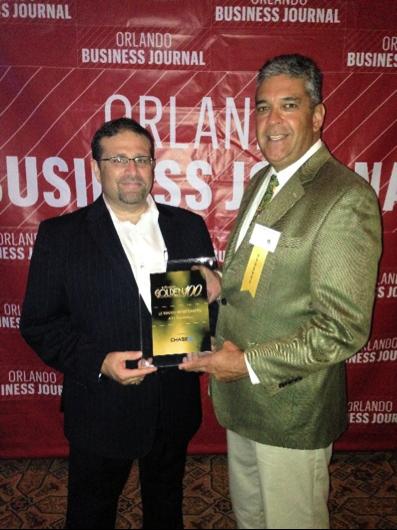 Robert Abascal with _ accpeting the Golden 100 award_AVT