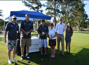 AVT Golf team and AVT sponsored tent