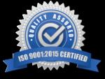 ISO 9001:2015 Certified Ribbon logo AVT Simulation