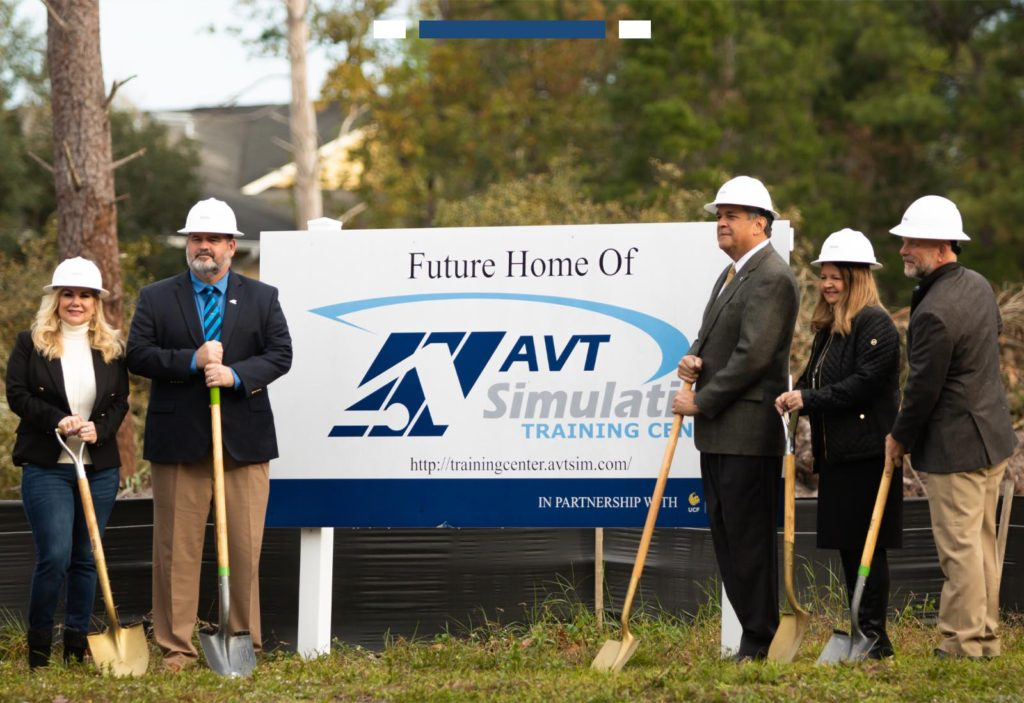 AVT Simulation New Building Groundbreaking